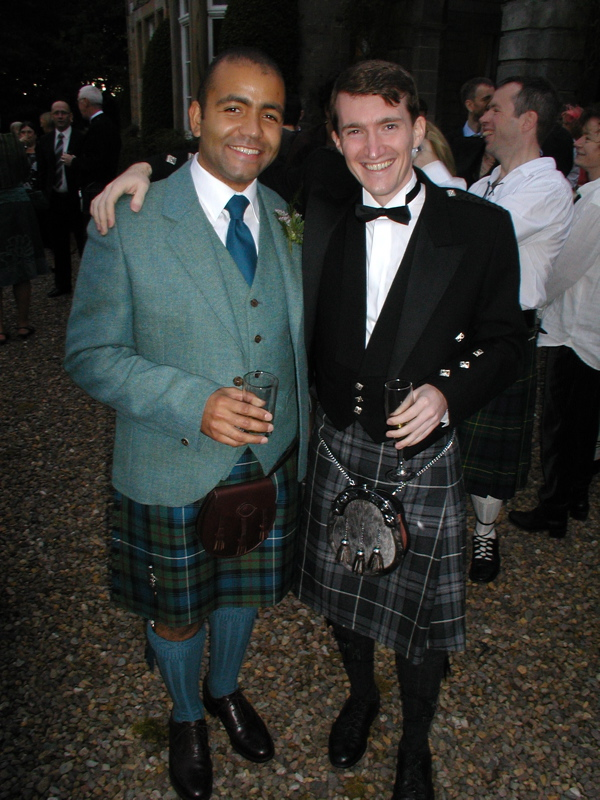 David King (left) and myself (right) on his wedding day.